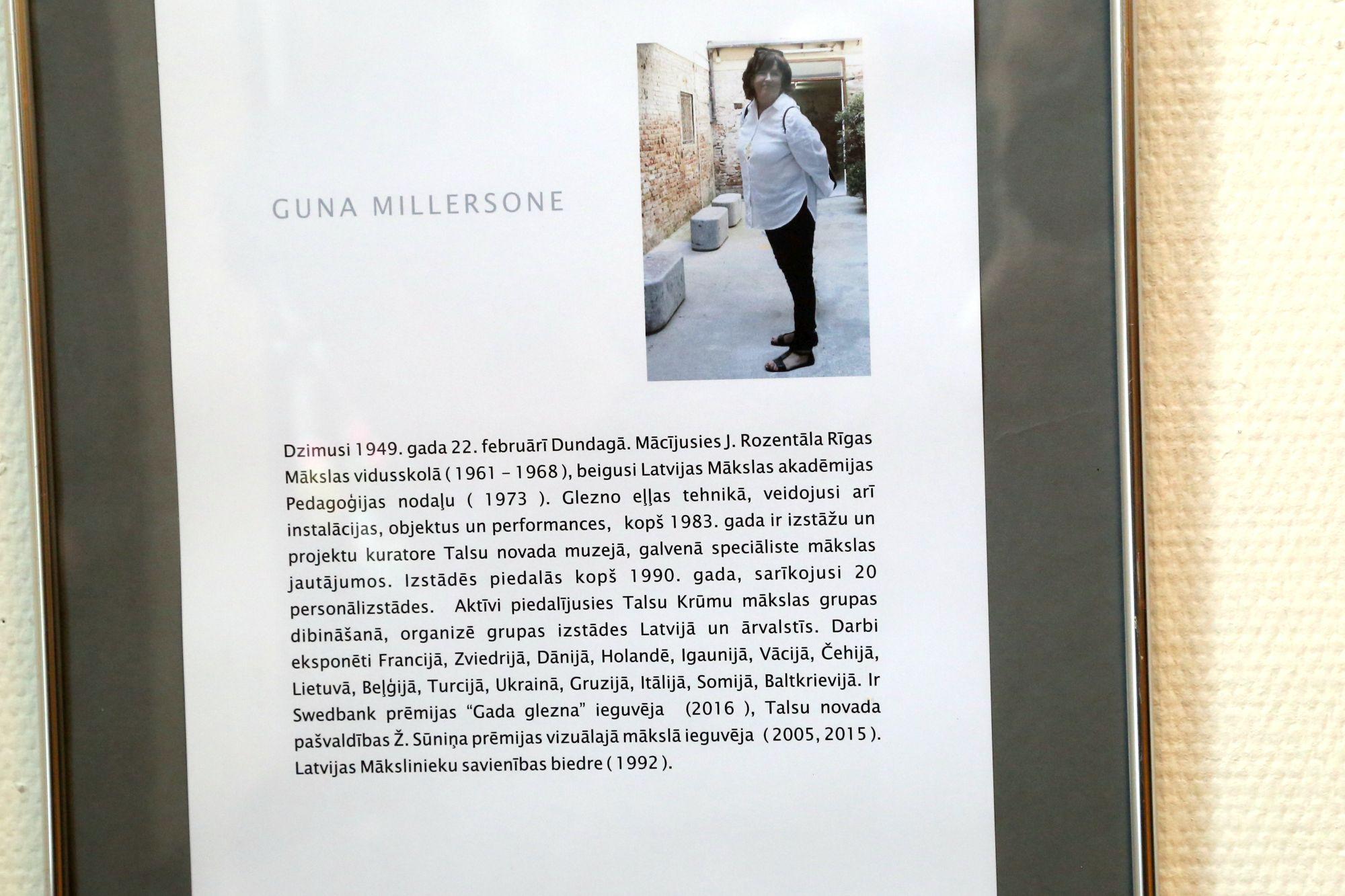 Mākslinieces Gunas Millersones jubilejas izstāde